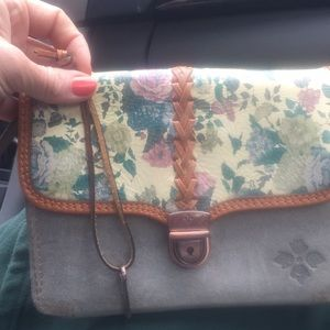 Patricia Nash Italian leather floral crossover